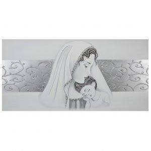 Quadro capezzale camera da letto Maternità con fascia centrale ...
