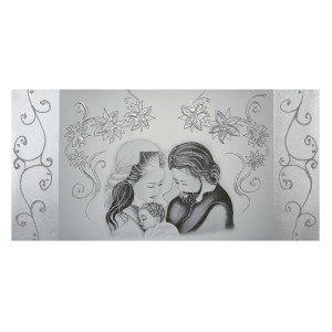quadro capezzale sacra famiglia argento