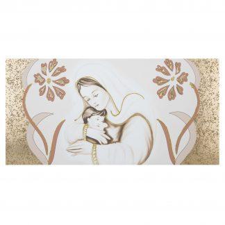 capezzale su tela camera da letto maternità fiori oro