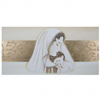 quadro-capezzale camera da letto moderna maternità fasce oro