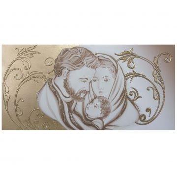 capezzale-quadro Sacra Famiglia oro