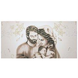 Quadro Sacra Famiglia foglie Oro