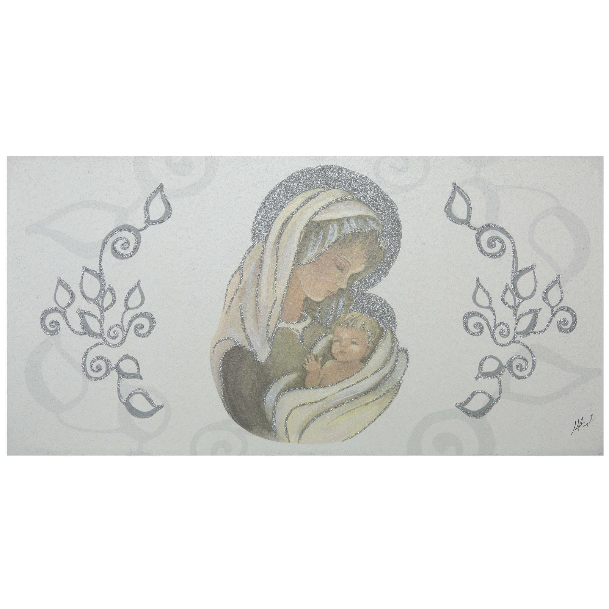 Quadri Classici Per Arredamento capezzale per camera da letto maternità con bambino argento