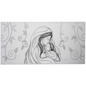 Capezzale camera da letto maternit foglie argento for Quadri sacra famiglia moderni prezzi