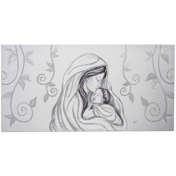 capezzale camera da letto carboncino argento maternità