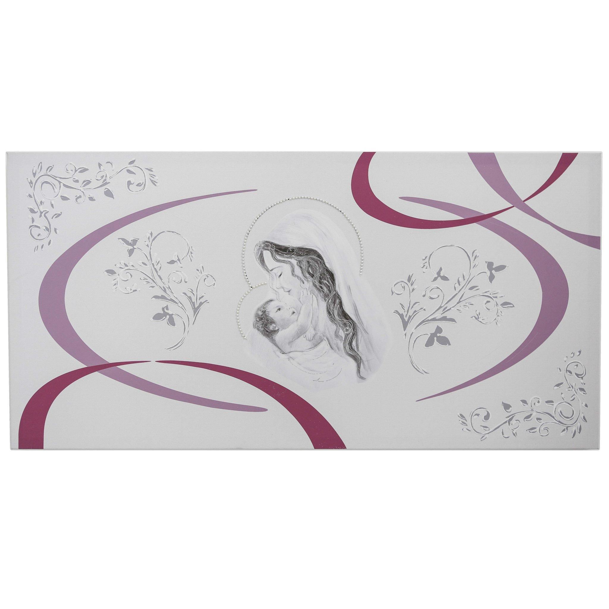 quadro capezzale Maternità con strisce argento
