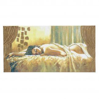 quadro capezzale su tela nudo di donna