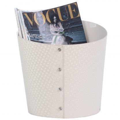Porta riviste in ecopelle Slice