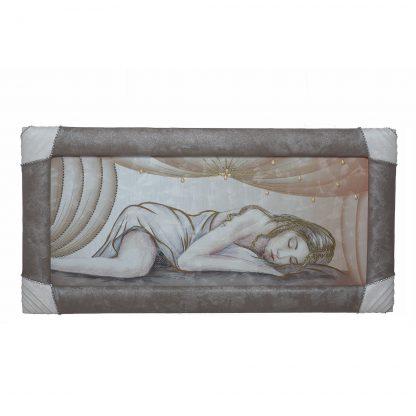 Quadro-capezzale con cornice Nudo di donna