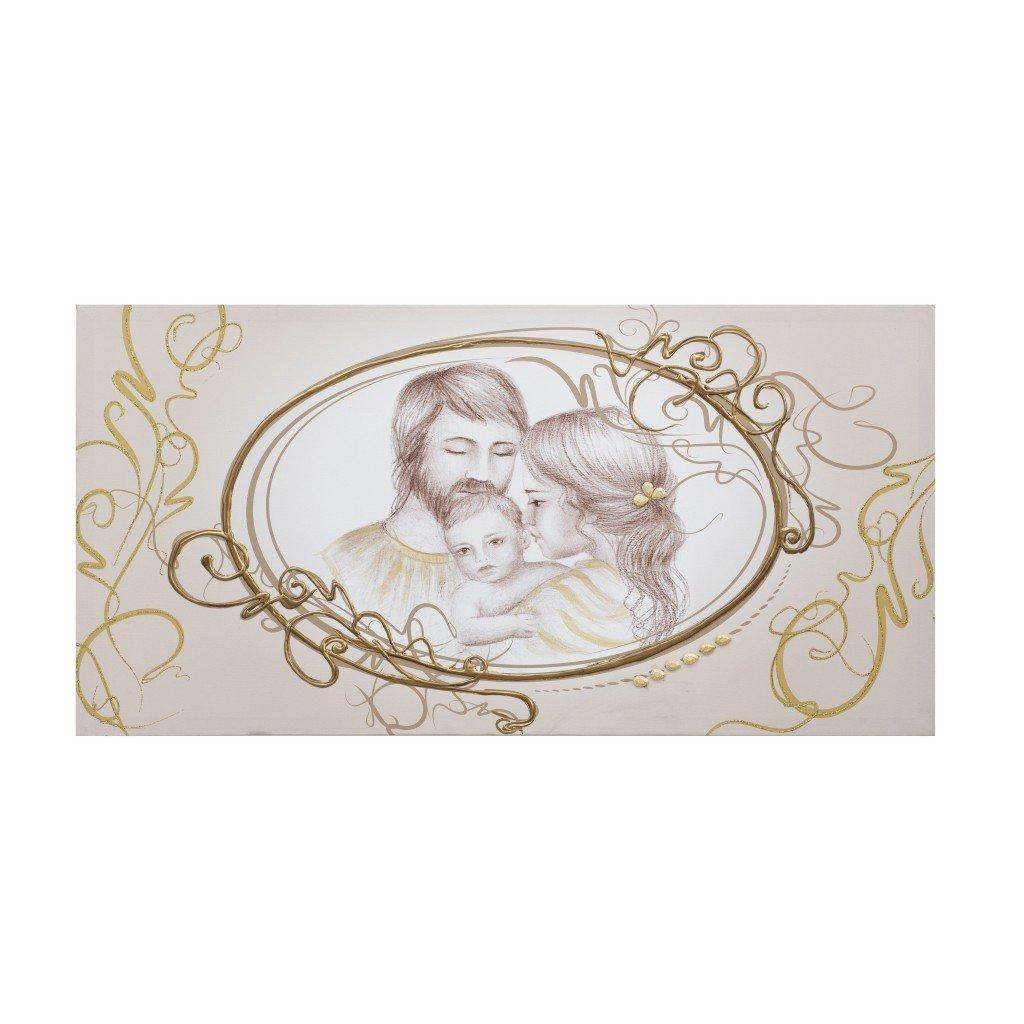 Quadro Sacra Famiglia Vintage Oro Oggettando