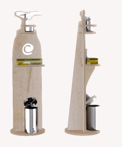 colonnina portadispenser legno
