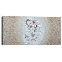 Quadro Maternità Damascato Oro