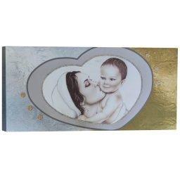 Quadro Maternità Cuore Bianca