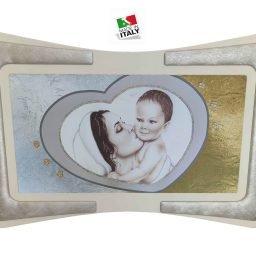 Quadro Maternità Cuore Cornice Ecopelle