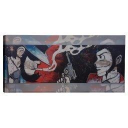 Quadro Lupin&Jigen Decorazione Argento